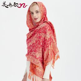 丽江复古民族风超大披肩流苏百搭棉麻围巾冬天波西米亚女围脖旅游