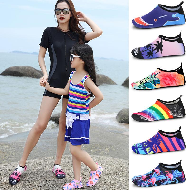 沙滩鞋男女潜水浮潜鞋儿童涉水沙滩袜女游泳防滑软底速干跑步机鞋
