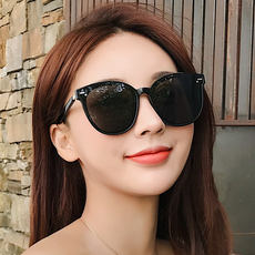 2019 new GM sunglasses female ins Korean version of the tide network red street shot polarized sunglasses round face UV glasses