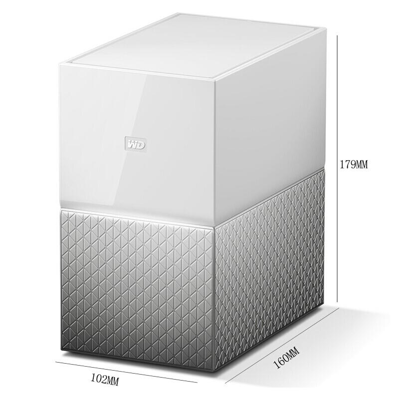 WD/西部数据My Cloud Home Duo 12T网络存储个人云盘家用家庭网盘
