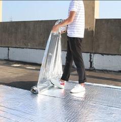屋顶补漏粘贴防雨平房防漏自粘聚合物改性沥青防水卷材防水布免烤