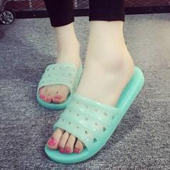 水晶拖鞋女夏塑料浴室防滑防臭洗澡情侣凉拖果冻拖鞋男家用老式鞋