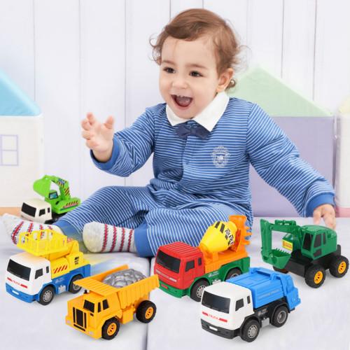玩具车儿童工程车套装宝宝惯性挖掘机吊车搅拌机挖土机小汽车男孩