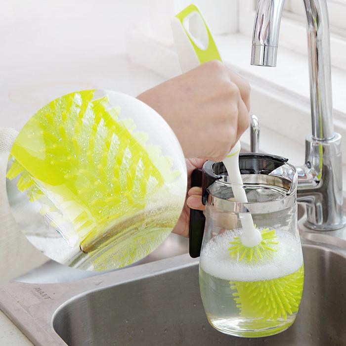 纳米软毛长柄杯刷 保温杯子清洁刷 奶瓶茶杯刷 厨房洗杯刷水杯刷