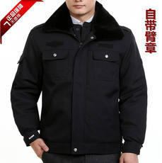 Authentic security winter duty coat thickening winter clothes cashmere wool jacket security coat jacket cotton jacket