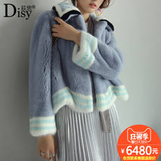 Disy 荻思 Imported 貂 貂 anti-sea fur mink coat female whole short short new slim fashion coat