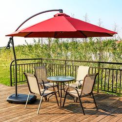 户外桌椅组合庭院露台遮阳伞茶几咖啡厅座椅休闲家具铁艺露天套装