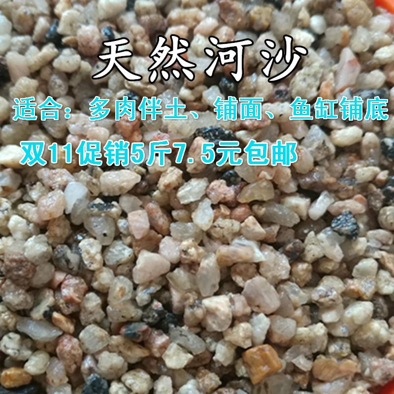 天然 粗河沙 多肉拌土铺面石水族微景观底砂植物营养颗粒土包邮
