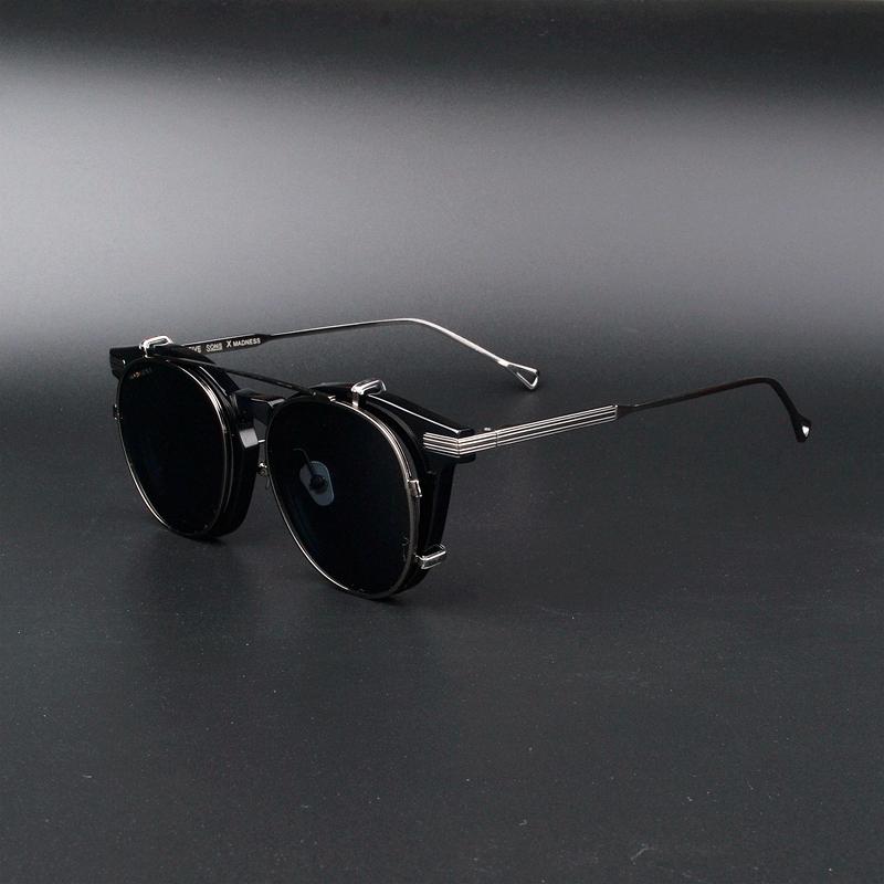 余文乐同款眼镜框 挂架太阳镜两用 板材纯钛大框偏光墨镜男潮爆