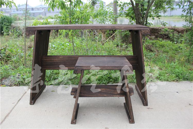 厂家直销特价新款古琴桌茶道香道国学通用便携式可拆桌凳