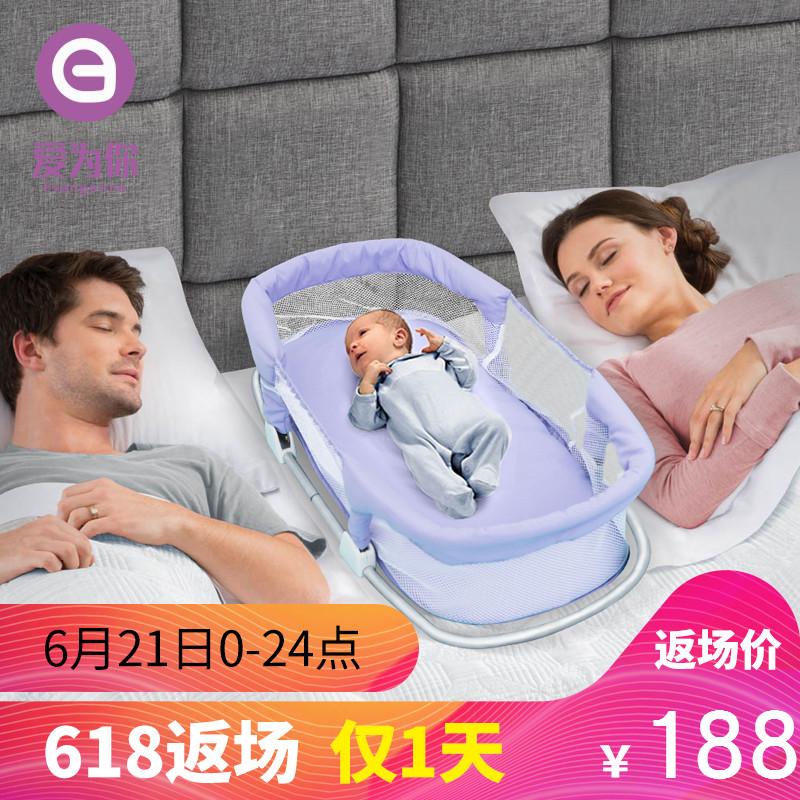 便携式婴儿床中床 多功能新生儿宝宝睡篮 婴幼儿bb床外出可折叠