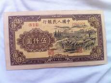 The first set of RMB 5,000, the shepherd, the first edition of the renminbi, Wu Yiyuan, the shepherd