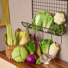 Simulation vegetable vegetables model props PU lettuce cabbage mushroom decoration cabinets shopping mall model room decoration