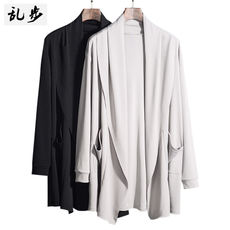 Spring New Cardigan Men Korean Slim Long Sleeve Youth Solid Color Thin Casual Slip Knit Jacket