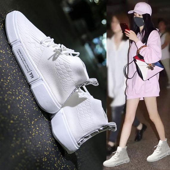 Socks shoes female summer new 2018 net red wild ulzzang Korean version hip hop Harajuku high help ins sneakers