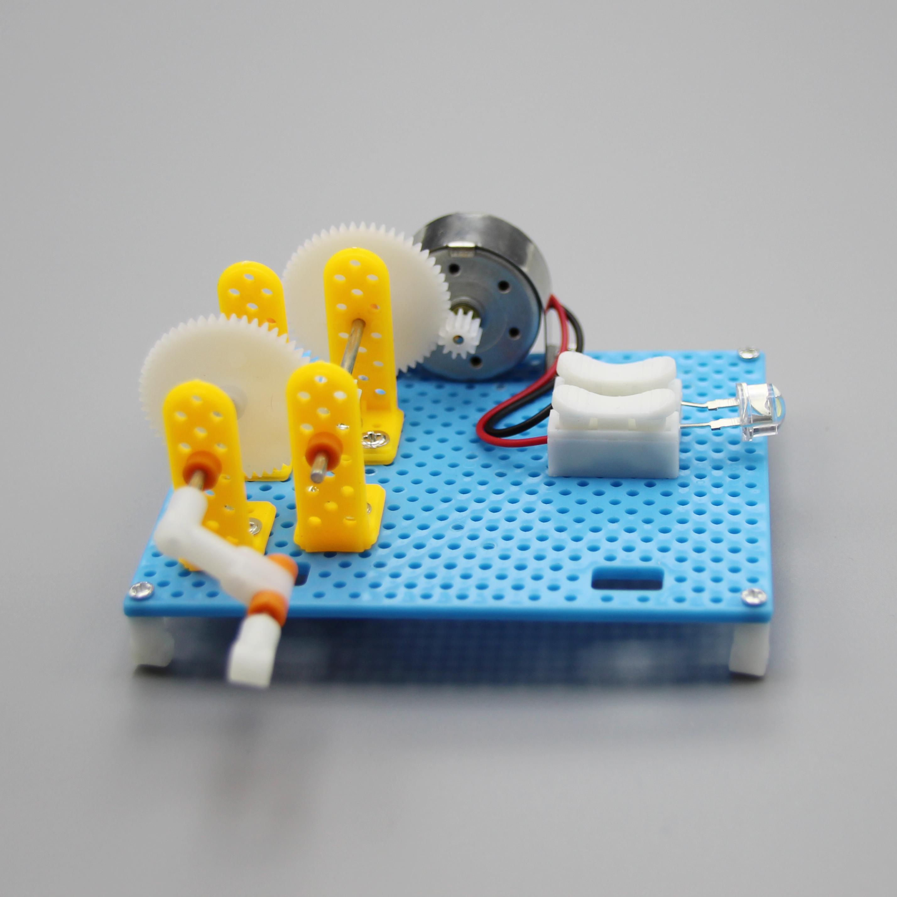 科技小制作手摇发电机模型材料小学生科学实验 儿童手工小发明