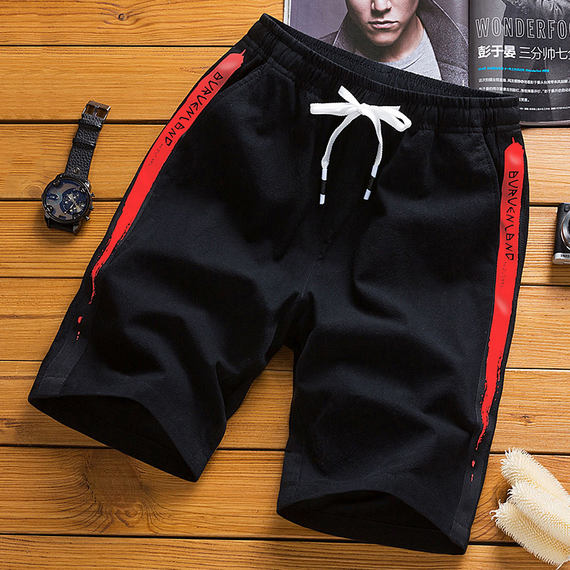 2] shorts male 2018 summer pants Korean version of the trend of men's casual five pants loose summer pants
