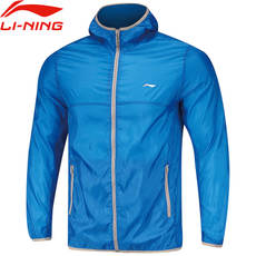 Li Ning windbreaker male spring and summer new sports casual wear thin breathable sun protection clothing men's hooded skin coat jacket