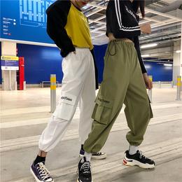 ins工装裤女日系潮牌bf原宿风学生情侣宽松休闲长裤多口袋哈伦裤
