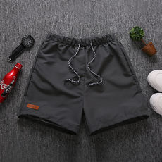 Quick-drying beach pants male loose lining couple seaside resort hot spring bathing trunks women's five shorts 3 minutes pants pants