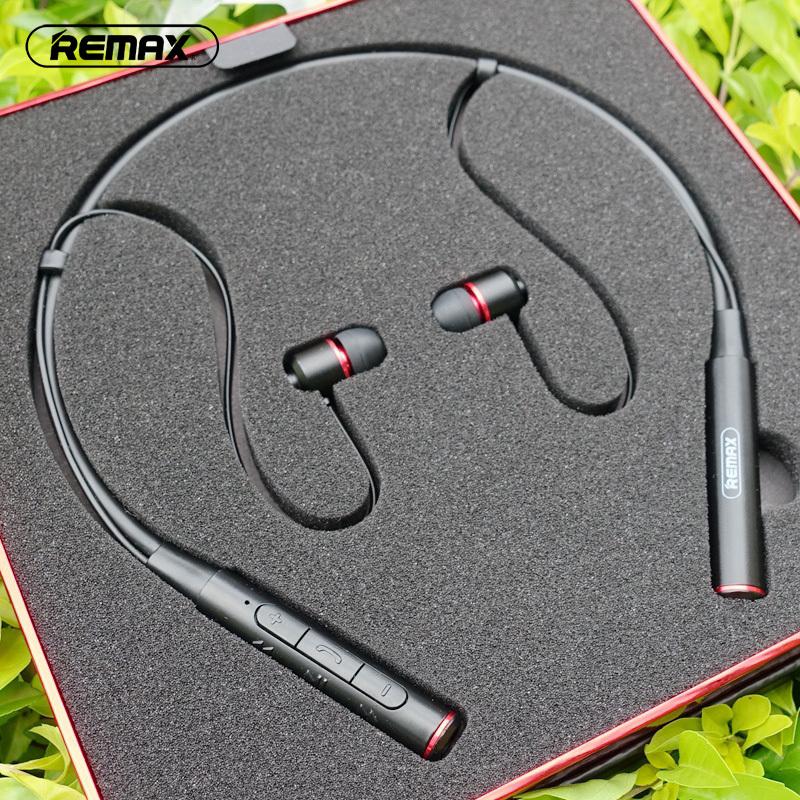 Remax睿量RB-S6颈挂式蓝牙耳机悟空脑后挂脖头戴项圈运动跑步听歌健身无线颈戴双耳颈脖耳塞入耳式苹果重低音