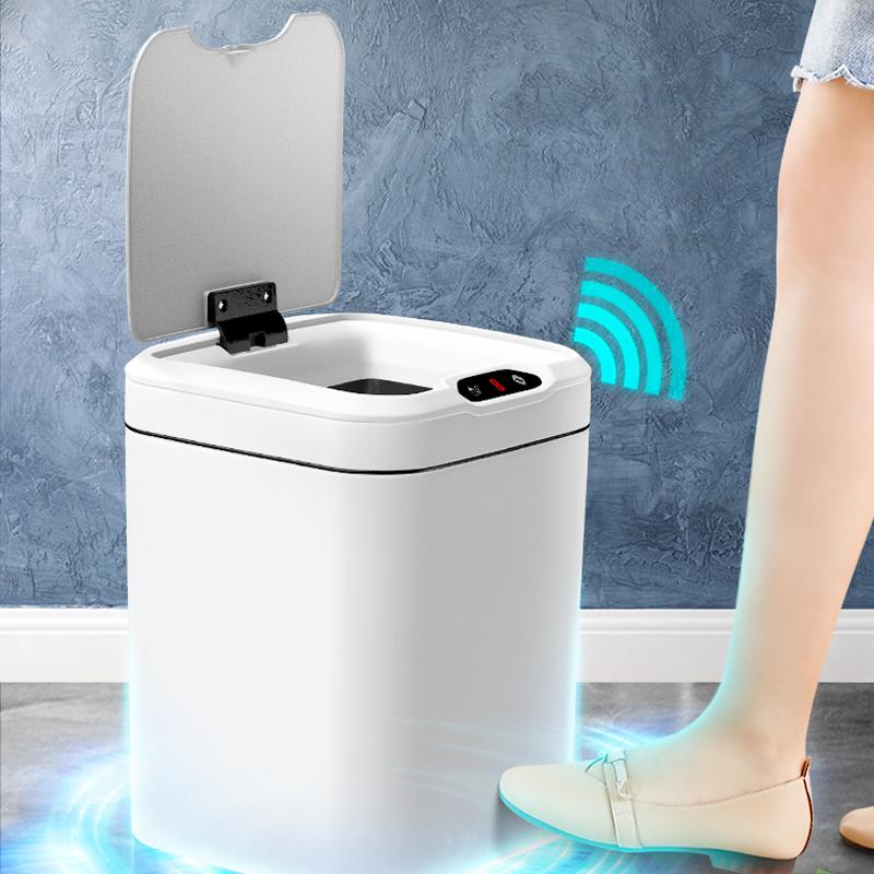 智能感应垃圾桶有盖自动家用厨房客厅厕所大号电动拉圾桶带盖创意