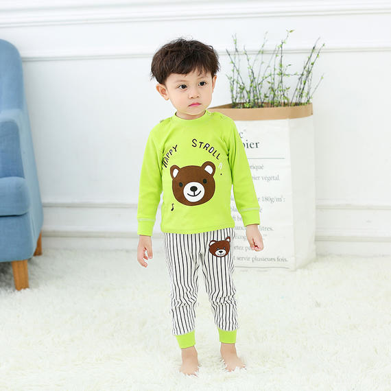 Baby Qiuyi Qiuku Set Baby Spring and Autumn Pajamas Children's Underwear Boys and Girls Pure Cotton High Waist Protection Belly Set