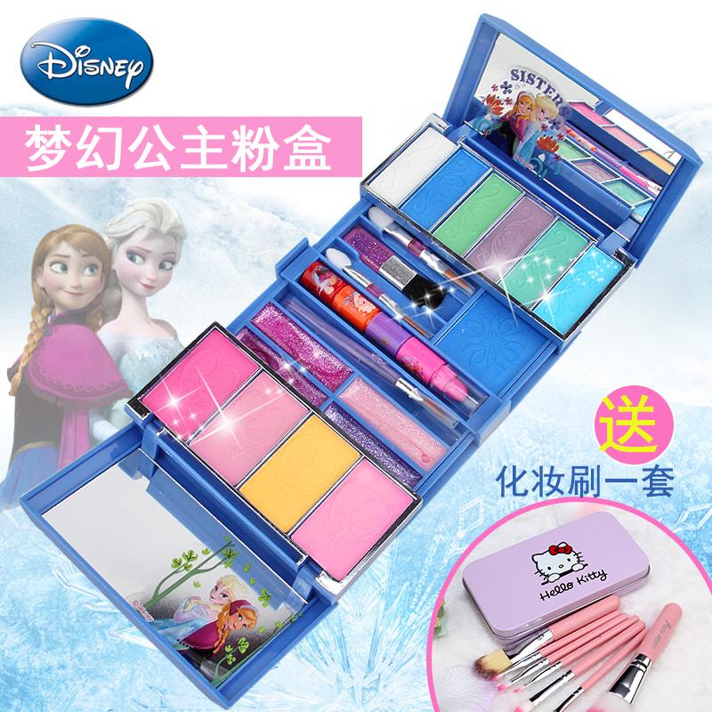 迪士尼儿童化妆品冰雪奇缘公主彩妆盒唇彩口红套装玩具女孩过家家可领取领券网提供的5元优惠券