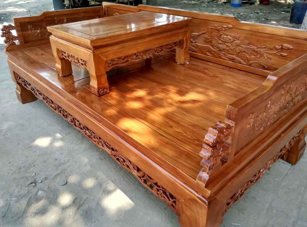 老榆木罗汉床实木现代中式双人简约原木榫卯禅意客厅垫子贵妃榻