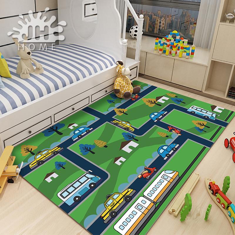 京华家居/儿童益智游戏卧室地毯幼儿园地毯爬行垫宝宝地垫
