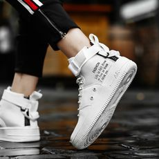 High-top canvas shoes white shoes men's casual shoes boys shoes Korean version of the trend of men's shoes summer breathable shoes shoes tide shoes