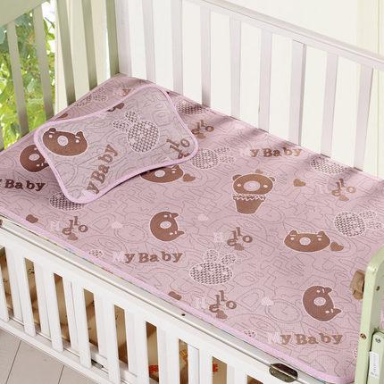 小嘟嘟婴儿凉席夏季冰丝透气新生儿宝宝婴儿床午睡儿童幼儿园席子