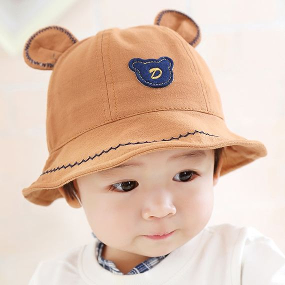 Baby fisherman hat spring and autumn 1-3 years old children sunshade autumn and winter thin boys and girls sun hat cotton baby basin cap