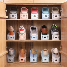 Shoe rack space plastic shoes storage artifact multi-layer shoe box shoe cabinet simple door single loading