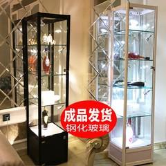 化妆品产品玻璃展示柜手办玻璃展柜透明陈列柜礼品模型家用乐高架