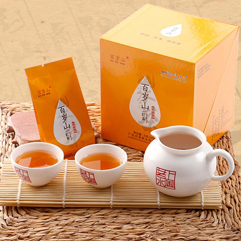 汕头馆 百岁山红茶礼盒装100g 武夷山正山茶叶小种红茶茶叶