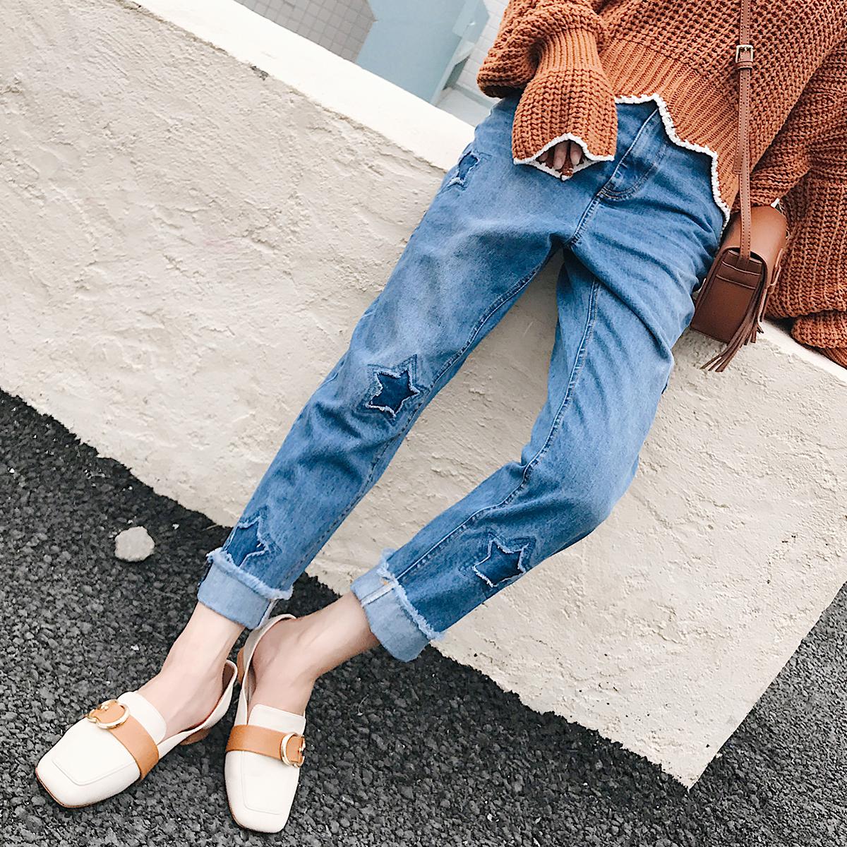 时尚牛仔裤女款潮个性破洞