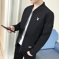 Playboy men's jacket 2018 new spring and autumn casual jacket male youth Korean version of the spring and autumn thin coat