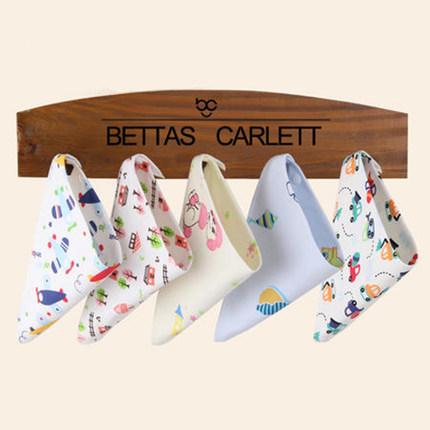 口水巾纯棉婴儿三角巾新生儿宝宝双层口水巾 儿童围嘴纯棉