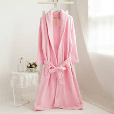 Value Specials ~ 2018 autumn and winter ladies thick coral fleece warm bathrobe robe home service morning service
