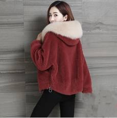 2018 new Haining imitation sheep shearing coat coat female tide short section faux fur one wool velvet fur