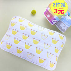 a class of pure cotton 6 layer gauze newborn baby child pillow towel baby kindergarten pillow towel thick soft breathable sweat