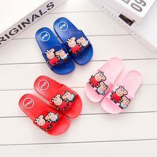 Daily specials children's slippers boys and girls sandals non-slip thick bottom home breathable bathroom slippers word inside and outside