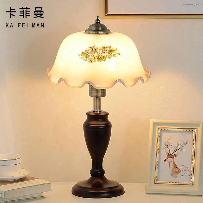 复古怀旧台灯美式乡村卧室床头柜灯家用创意民国典实木调老上海