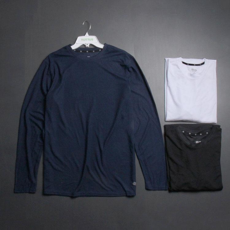 胖兄弟的福利 超大码 户外轻薄跑步透气速干长袖T恤宽松运动男装