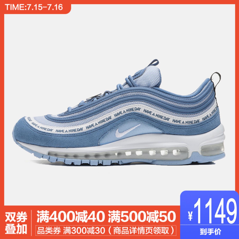 NIKE男鞋休闲鞋2019新款AIR MAX 97笑脸蓝子弹跑步运动鞋BQ9130