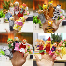 Baby child hand puppet kindergarten language area finger couple game material 12 Zodiac animal gloves appease doll