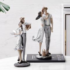 欧式新婚小情侣摆件 新房送礼客厅电视柜酒柜装饰品摆件结婚礼物