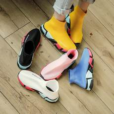 Ins super fire elastic socks shoes color bottom Korean ulzzang2018 spring new casual wild sports shoes