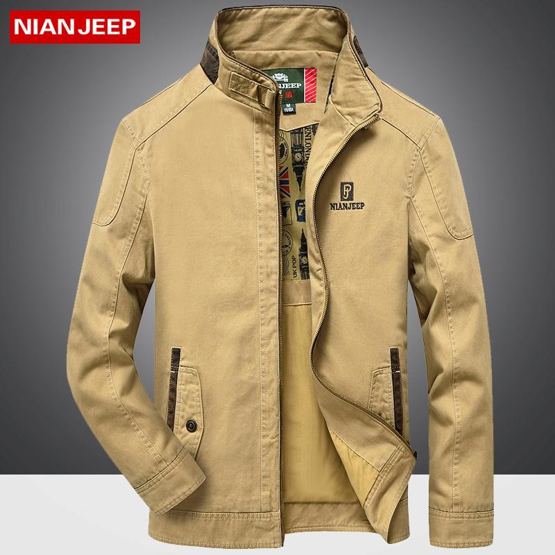 【天天特价】吉普盾冬季工装中年男士夹克外套立领商务休闲夹克